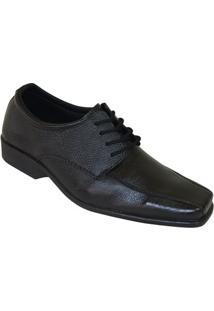 Sapato Social Fox Comfort Derby - Masculino-Preto