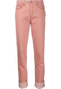 Karl Lagerfeld Calça Jeans Slim Girlfriend - Rosa