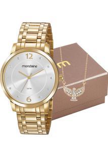 Kit Relógio Mondaine Feminino Com Colar 83467Lpmvde2K1
