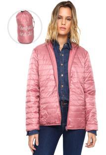 Jaqueta Puffer Fiveblu Pocketable Rosa