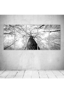 Quadro Decorativo - Black White Tree (2) - Composto De 5 Quadros - Multicolorido - Dafiti