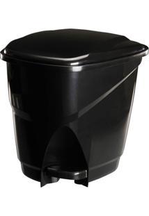 Lixeira Ecológica Com Pedal 16L Astra Preto