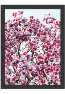 Quadro Decorativo Flores De Primavera Preto - Médio