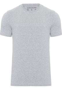 Camiseta Masculina Ckj Est American - Cinza