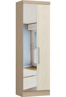 Modulo Com 2 Portas C/ Espelho Infinity 3820A-Castro Móveis - Nogueira / Nudi
