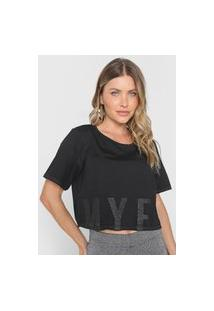 Camiseta Cropped My Favorite Thing(S) Texturizada Preta