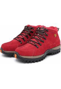 Bota Adventure Em Couro Dr Shoes Vermelho