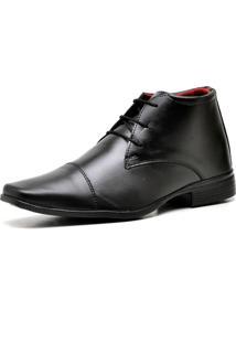 Bota Coturno Sapato Casual Top Flex Social R109M Preto