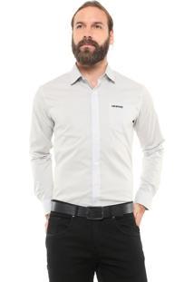Camisa Mr Kitsch Reta Bolso Cinza