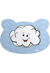 Tapete Pet Mdecore Urso Nuvem Azul 54X39Cm