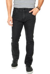 Calça Jeans Quiksilver Arto Black Preta