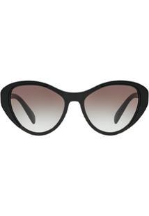 Prada Eyewear Óculos De Sol Gatinho - Preto
