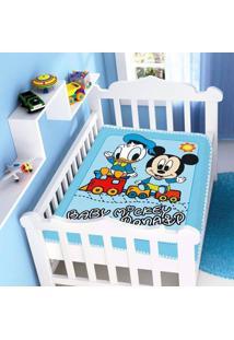 Cobertor Infantil Jolitex Raschel Mickey E Don Azul