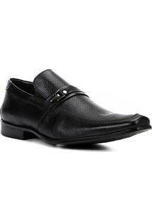 Sapato Social Couro Shoestock Textura Fivela Masculino - Masculino