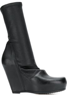 Rick Owens Ankle Boot Slip On De Couro - Preto
