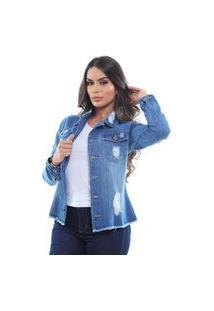 Jaqueta Jeans Feminina Crocker - 48058