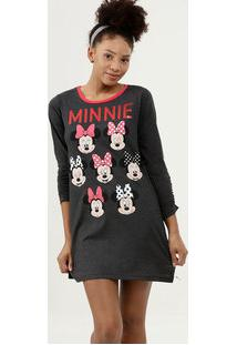 Camisola Estampa Minnie Manga Longa Disney