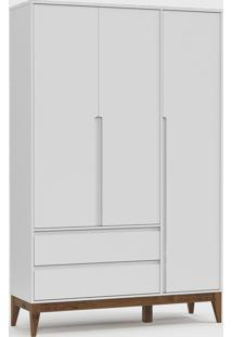 Roupeiro Nature Clean 3 Portas Branco Soft / Eco Wood - Branco - Dafiti