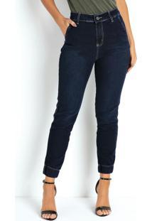 Calça Jeans Jogger Com Elástico Na Barra Sawary