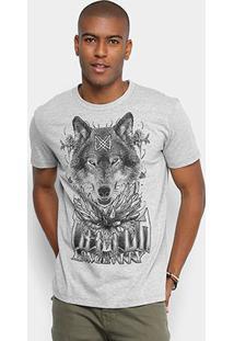 Camiseta Triton Estampada Masculina - Masculino-Mescla Escuro