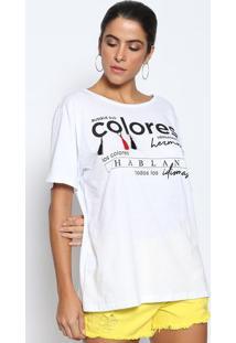 Camiseta Com Barbicachos- Branca & Pretadimy