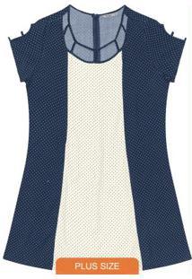 Vestido Curto Feminino Azul