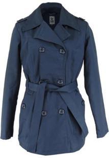 Casaco Térmico Feminino Trench Coat Broadway - Feminino-Azul+Marinho