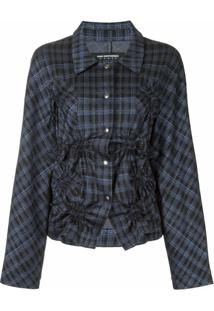 Kiko Kostadinov Plaid Check Jacket - Azul
