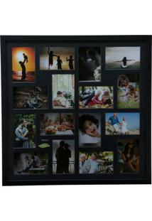 Painel Collection Para 16 Fotos 10X15 - Woodart Preto