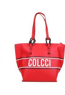 Bolsa Colcci Shopper Esportiva Feminina - Feminino-Vermelho