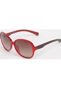 Privalia. Óculos De Sol Arredondado Ckj778s - Vermelha   Pretacalvin Klein 92bb5029f5