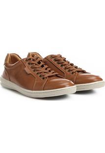 c75f151f2c ... Sapatênis Couro Shoestock Masculino - Masculino-Caramelo