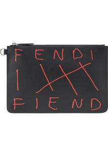 Fendi Clutch Fendi Fiend - Preto