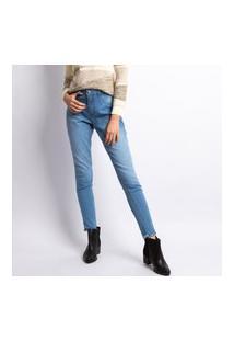 Calça Jeans Feminina Cigarrete Lavagem Clara Jeans