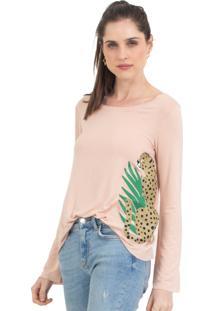 Camiseta 41Onze Plant Cheetah Rosa - Tricae