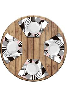 Jogo Americano Love Decor Para Mesa Redonda Wevans Geométric Kit Com 4 Pçs Love Decor - Kanui