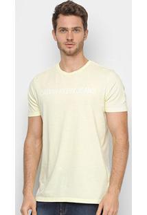 Camiseta Calvin Klein Ckj Masculina - Masculino-Amarelo