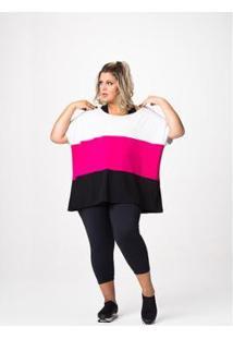 Camiseta Deia Fitness Plus Size - Feminino