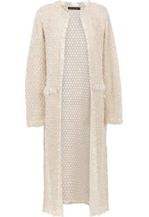 Cecilia Prado Trench Coat  Nancy  De Tricô - Nude   Neutrals 4f0792ad459