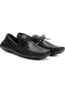 Sapato Social Couro Vr Drive Floater - Masculino-Preto