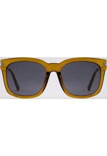Óculos De Sol Quadrado Feminino Yessica Amarelo