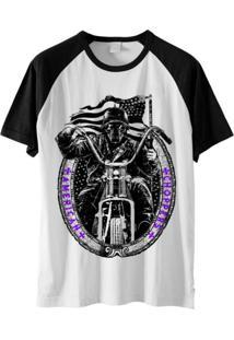 Camiseta Raglan Ramavi Skull Rider