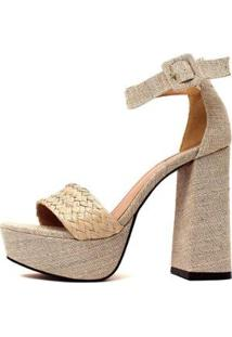 Sandália Damannu Shoes Francy Feminina - Feminino-Bege