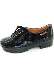 Tênis Tratorado Quality Shoes Feminino 005 Verniz Preto 38