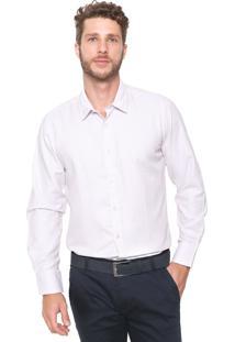 Camisa Aleatory Slim Geométrica Rosa
