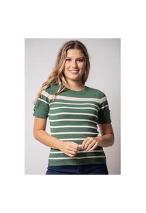 Blusa Pau A Pique M/C Modal Verde