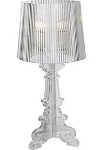 Abajur De Acrilico Transparente Star Philippe Stark 51X20 Bivolt