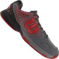 a231f0fac6 Tênis Wilson K Tour - Masculino - Cinza Vermelho