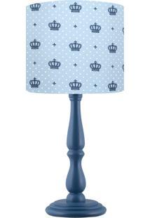 Abajur Infantil Carambola Little King Azul