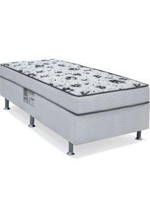 Cama Box Solteiro Conjugada Spring Molas Nanolastic Branca